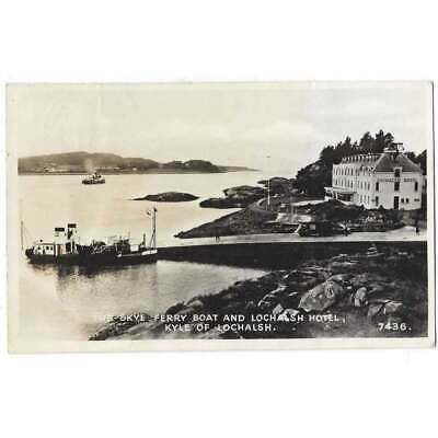 KYLE OF LOCHALSH Skye Ferry Boat And Hotel, RP Postcard Postally Used 1954 • 7.95£