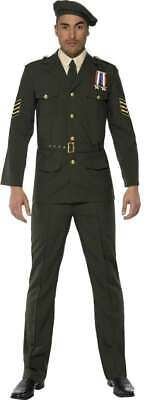 Wartime Officer Fancy Dress Costume Mens (army) Large • 27.99£