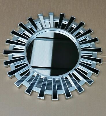 66cm Sunburst Panels Wall Mounted Mirror Large Home Decor Round Modern Vanity • 34.99£