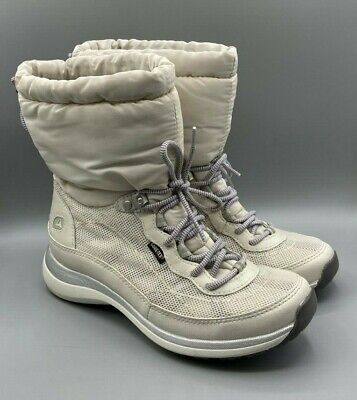 NEW Ladies Wave Walk By Clarks Wave Peak Gore-Tex White Ankle Warm Boots UK 4 D • 39.99£