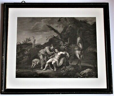 Large Print After William Hogarth, The Good Samaritan, Engraved By Ravenet 1772 • 65£