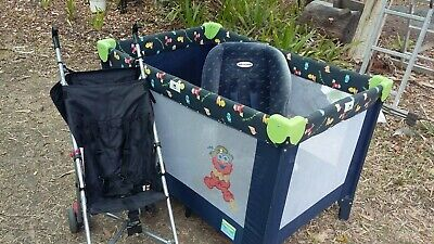 AU49 • Buy Baby Foldable Portacot, Convertable Car Seat And Umbrella Stroller