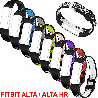 AU6.28 • Buy Replacement Silicone Wrist Band Strap Clasp Buckle For Fitbit Alta HR / Alta NEW