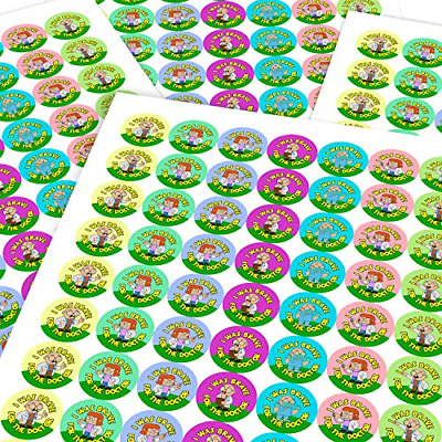 Chunky Hamster Doctor Brave Sticker Labels Children Parents Teachers Kids Party • 16.48£