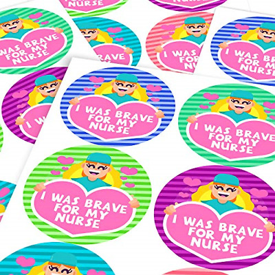Chunky Hamster Nurse Brave Sticker Labels Children Parents Teachers Kids Party X • 16.48£