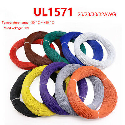 £0.99 • Buy 26 28 30 32AWG UL1571 Flexible Stranded Wire Cable PVC Insulated Electronic Wire