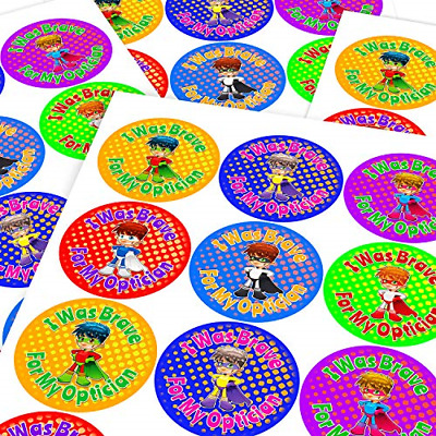 Chunky Hamster Optician Brave Superhero Sticker Labels Children Parents Teachers • 16.48£