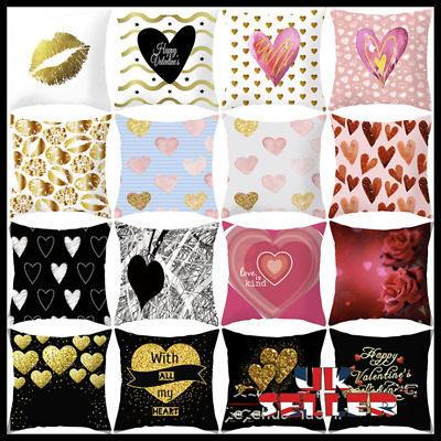 18  LOVE Valentine Pillows Case Sofa Car Waist Throw Cushion Cover Home Decor UK • 3.49£