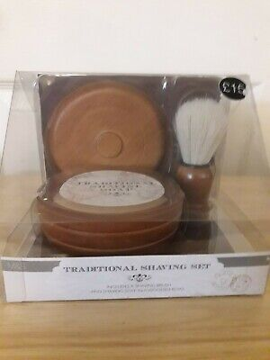 M & S Traditional Shaving Set, New And Sealed • 9.99£