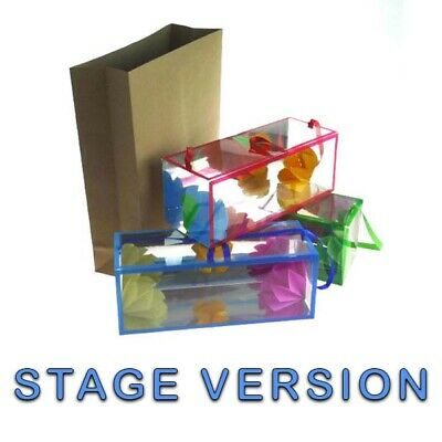LARGE Flower Box Production Stage Version Magic Prop Flower From Empty Bags *UK* • 11.99£