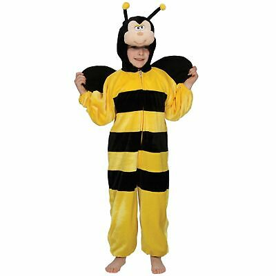 Bumblebee Yellow & Black Insect Buzz Fly Childs Boys Kids Fancy Dress Costume • 14.89£