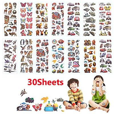 30 Sheets 3D Stickers Kids Party Bag Fillers Stickers For Children Toddlers, • 4.37£
