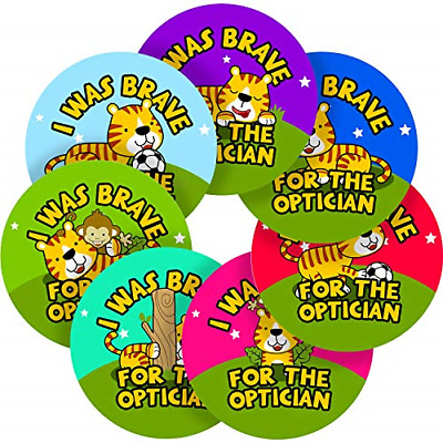 Optician Brave Sticker Labels Parents Teachers Kid Children Party Reward 25 MM X • 15.19£