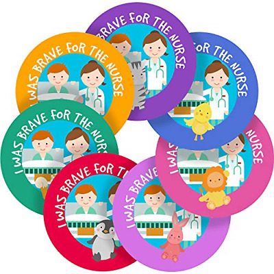 Adorable And Brave For The Nurse Sticker Labels Parents Teachers Kid Children 95 • 15.19£