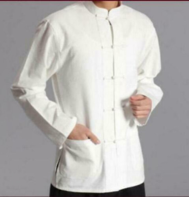 Blouse Shirts Chinese Men Long Sleeve Kung Fu Tang Suit Cotton Linen Tops Casual • 15.83£