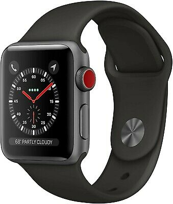 $ CDN263.16 • Buy Apple Watch Series 3 42mm Space Gray Aluminum Case Black Sport Band Cellular