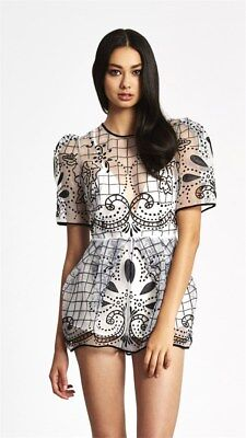 AU139.95 • Buy BNWT ALICE MCCALL 4 - 6 Space Is Only Noise Playsuit In Black And White