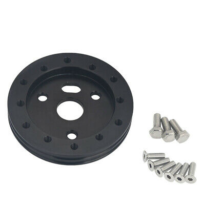 $11.98 • Buy 0.5  Aluminum Steering Wheel Spacer Hub Adapter 6 Hole To Fit For 3 Hole Black