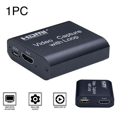 HDMI To USB2.0 Video Capture Card 1080P HD Recorder For XBOX/ Game/Video Live • 14.75£