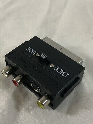 10 X SCART To 3 RCA Composite Phono SVHS S-Video In Out Switch Converter Job Lot • 14.95£