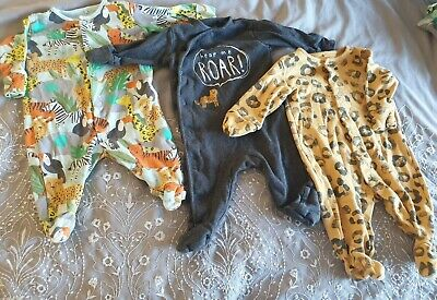 Next Baby Boy Sleepsuits X3 0-3 Months (up To 3 Months) • 6.50£