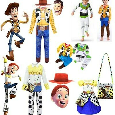 Toy Story Woody Buzz Jessie Cowboy Kids Costume Party Fancy Dress Cosplay Outfit • 8.64£
