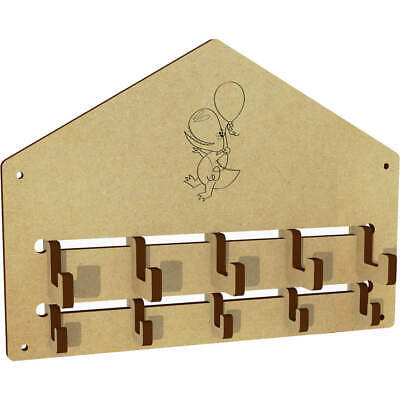 'Party Dinosaur' Wall Mounted Coat Hooks / Rack (WH00000412) • 6.99£