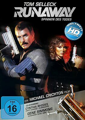 RUNAWAY *Uncut & Remastered* (Tom Selleck, Michael Crichton) NEW Region 2 DVD • 17.95£