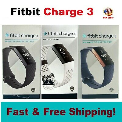 $ CDN107.08 • Buy Fitbit Charge 3 Fitness Activity Tracker Heart Rate Monitor Watch Large Small