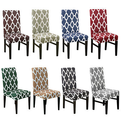 1/4/6 Dining Chair Elastic Covers Slipcovers Seat Protectors Home Party • 7.99£