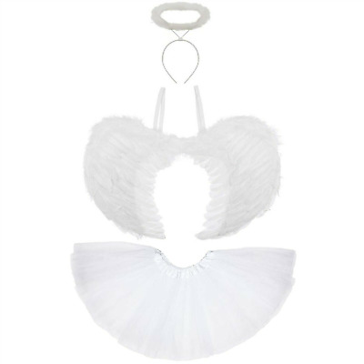 £10.99 • Buy Ladies Girls Adult White FALLEN ANGEL Fancy Dress Costume Christmas Fairy Outfit