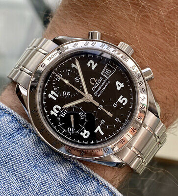 Omega Speedmaster Steel Limited Edition Black Dial Mens 38mm Automatic Box Watch • 1,999.99£
