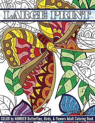 Relaxing Colouring Books Adult Therapy Stress Relief Mind Butterflies  Birds • 6.14£