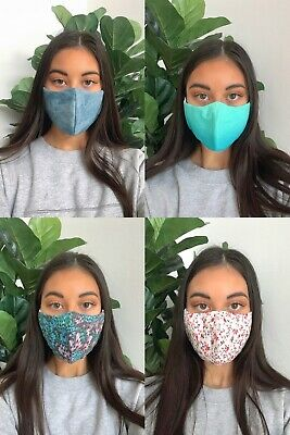 AU18.50 • Buy Handmade Double Layer Washable Protective Reusable Cotton Mouth Face Cover Masks