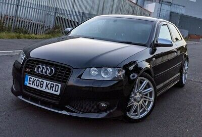 2008 08 Audi S3 2.0t Quattro Phantom Black 300 Bhp 3dr Stage 1 Remap Px Swap  • 8,495£