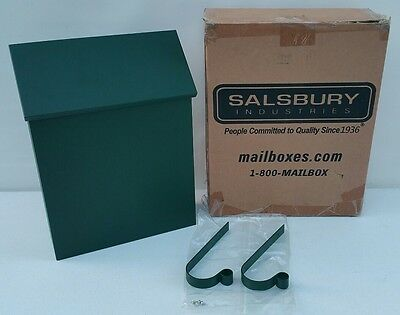 NEW - Salsbury Traditional Green Steel METAL Mailbox Standard Vertical Style USA • 14.95£