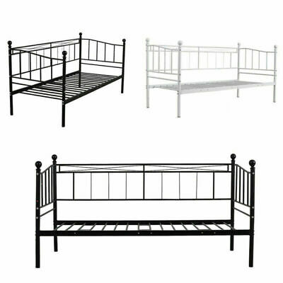 £69.98 • Buy Austin Metal Bed Frame Day Bed 3ft Single Sofa Guest Bed With Mattress Option UK