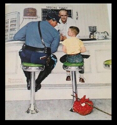 $ CDN73.07 • Buy Norman Rockwell Print With Black Frame Approx 14  X 11