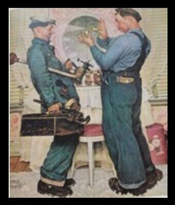 $ CDN78.53 • Buy Norman Rockwell Print With Black Frame Approx 14  X 11