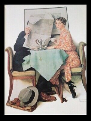 $ CDN74.89 • Buy Norman Rockwell Print With Black Frame Approx 14  X 11