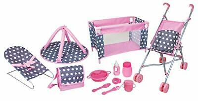 Doll Deluxe Nursery Play Set  Accessories Role Toy Colors May Vary Perfect Gift • 33.35£