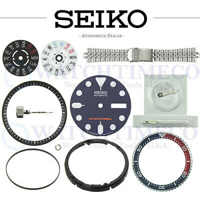 $ CDN115.18 • Buy SEIKO SKX007 SKX009 SKX173 Dial Bezel Crystal Crown Gasket Spring Hands Band