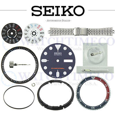 $ CDN50.54 • Buy SEIKO SKX007 SKX009 SKX173 Dial Bezel Crystal Crown Gasket Spring Hands Band