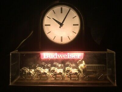 $ CDN104.53 • Buy Vtg Budweiser Clock 1988 World's Champion Clydesdale Team Working