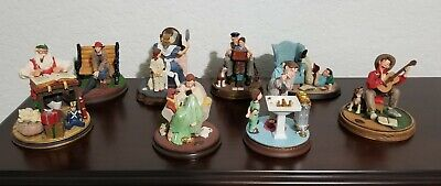 $ CDN184.08 • Buy Vintage Lot Of (8) Norman Rockwell Gallery Figurines