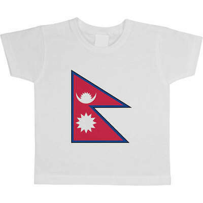 'Nepal Flag' Children's / Kid's Cotton T-Shirts (TS023066) • 9.99£