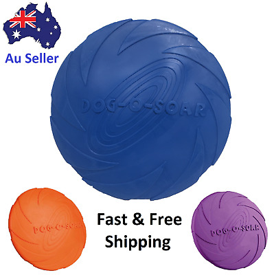 AU7.99 • Buy Silicone Rubber Frisbee Pet Dog Puppy Safe Exercise Fetch Outdoor Training Toy