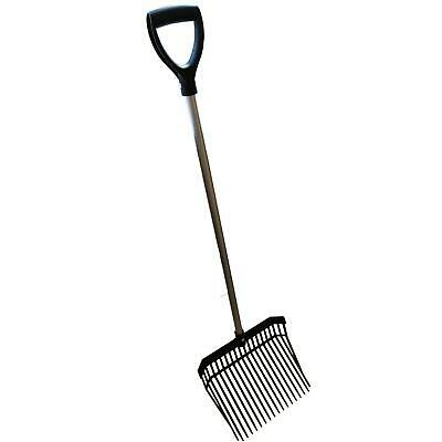 £15.49 • Buy STABLE LIGHTWEIGHT HAY PITCH CHIP FORK RAKE Barn Horse Manure Scoop Farm