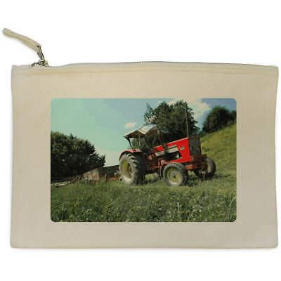 AU17.98 • Buy 'Red Tractor' Canvas Clutch Bag / Accessory Case (CL00005846)