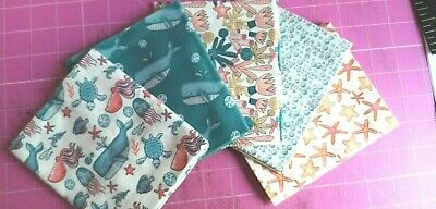Under The Sea Patchwork Quilt Kit- FQ Pack Backing Wadding Info Sheets Free P&P • 28£